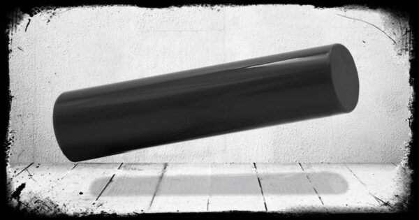 Dark Grey Solid Cast Acrylic Rod