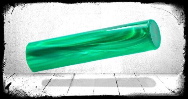 Green Pearl Cast Acrylic Rod