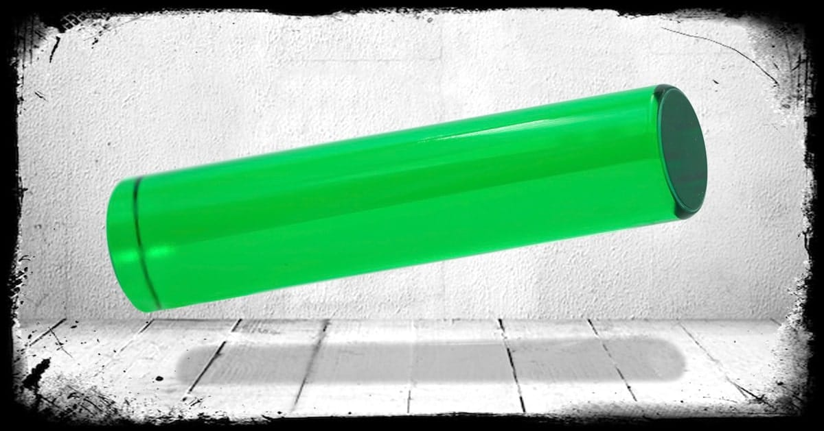Crystal Green Transparent cast acrylic rod