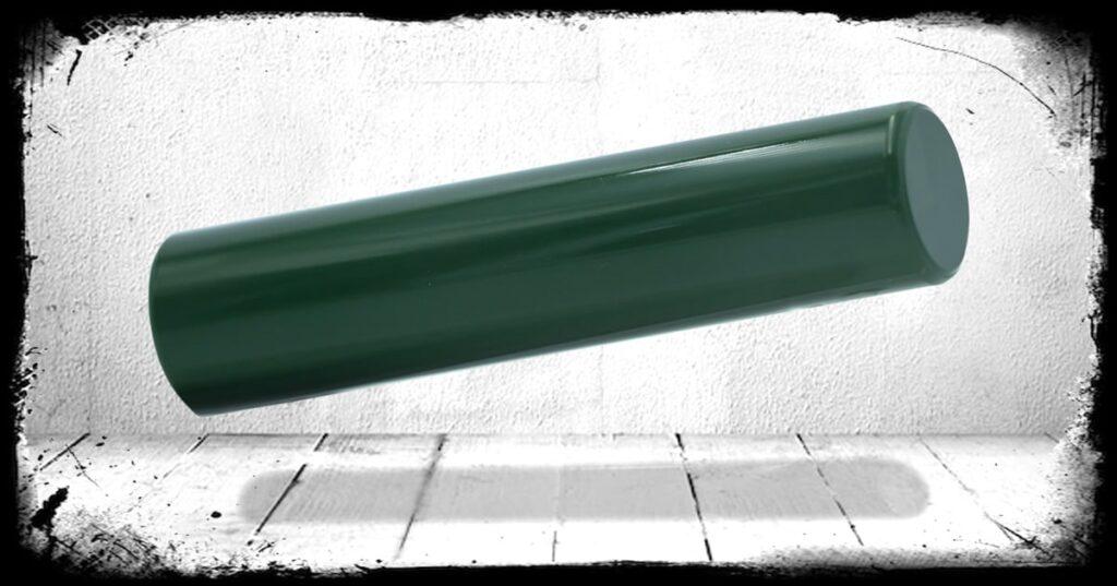 OD Green Solid cast acrylic rod