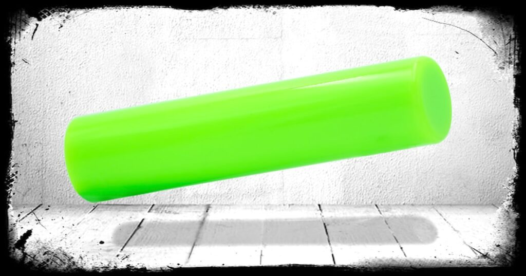 Neon Green Solid Cast Acrylic Rod