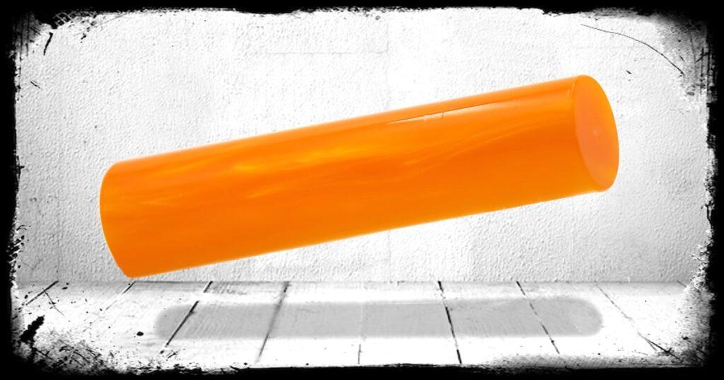 Orange Pearl Cast Acrylic Rod