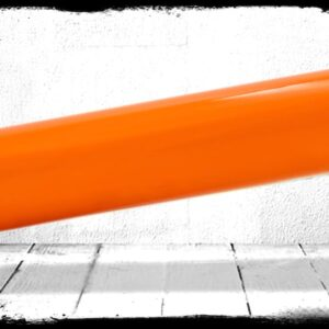 Orange Solid Cast Acrylic Rod