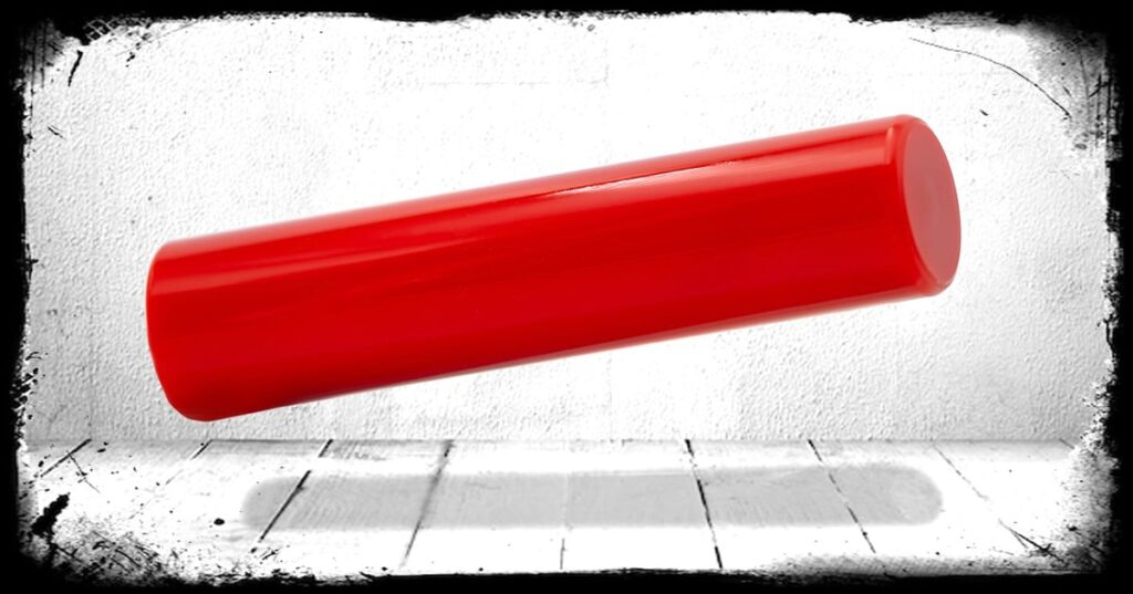 Ferrari Red Solid Cast Acrylic Rod