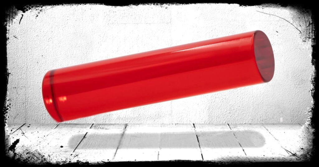 Red Transparent cast acrylic rod