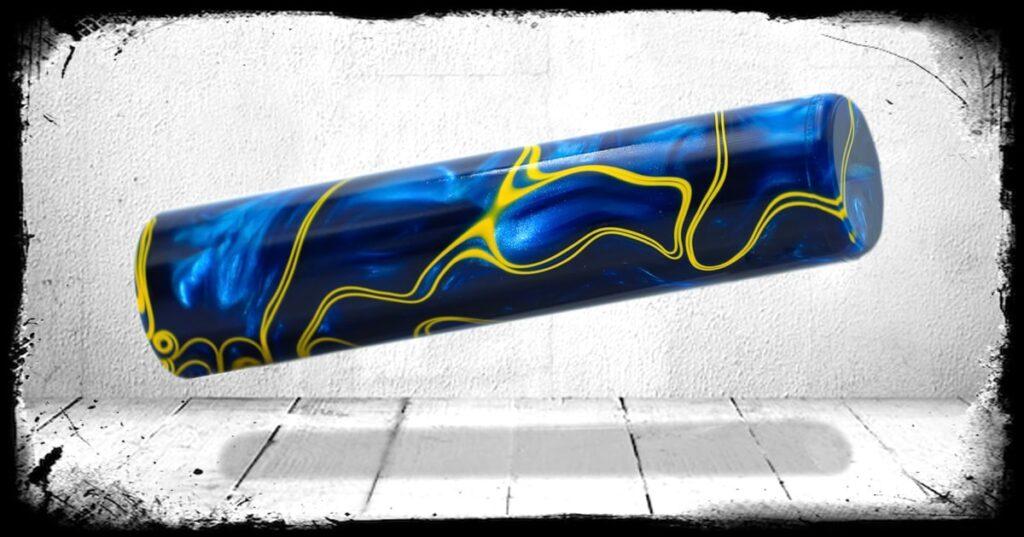Blue Angels Swirl Cast Acrylic Rod