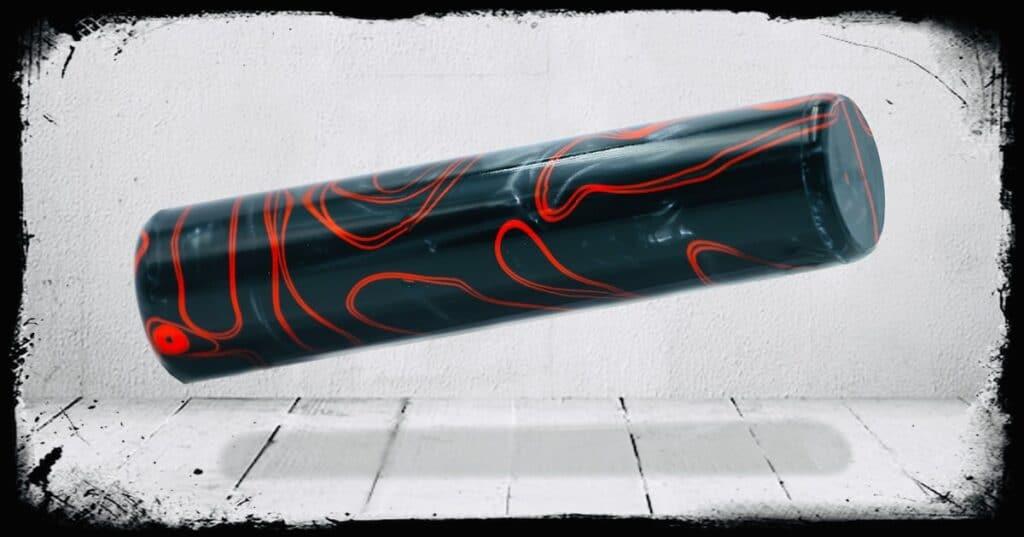 Midnight Rage Swirl Cast Acrylic Rod